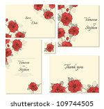set of floral frames. perfect... | Shutterstock .eps vector #109744505