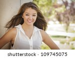 attractive mixed race girl... | Shutterstock . vector #109745075