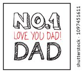 fathers day holiday vector... | Shutterstock .eps vector #1097451611