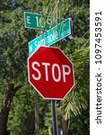 Small photo of Tampa, Florida / USA - May 5 2018: East 109th Ave and Seminole Avenue Street Sign at Intersection