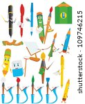 a set of abstract stationery.... | Shutterstock . vector #109746215