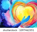 human and love spirit powerful... | Shutterstock . vector #1097462351