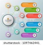 vector abstract 3d paper... | Shutterstock .eps vector #1097462441