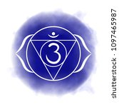 sixth  third eye chakra   ajna. ...   Shutterstock .eps vector #1097465987