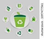 icon environmental and eco... | Shutterstock .eps vector #1097477561