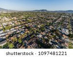 aerial view of homes in the san ... | Shutterstock . vector #1097481221