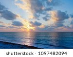 sunrise over atlantic ocean. | Shutterstock . vector #1097482094