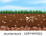 an underground and farm... | Shutterstock .eps vector #1097495501