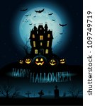 halloween background with... | Shutterstock .eps vector #109749719