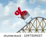 interest rate rise and bank... | Shutterstock . vector #1097509037