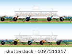 competition wheelchair in... | Shutterstock .eps vector #1097511317
