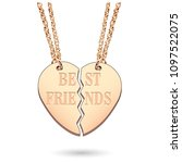 best friends jewelry charm... | Shutterstock .eps vector #1097522075