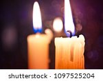 locked candles. mourning.... | Shutterstock . vector #1097525204
