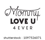 happy mothers day typography... | Shutterstock .eps vector #1097526071