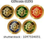 set of physical golden coin...   Shutterstock .eps vector #1097534051