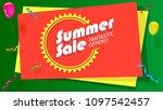 summer sale  fantastic offer... | Shutterstock . vector #1097542457