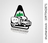 adventure rv camper car logo... | Shutterstock .eps vector #1097542871