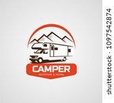 adventure rv camper car logo... | Shutterstock .eps vector #1097542874