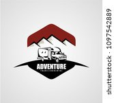 adventure rv camper car logo... | Shutterstock .eps vector #1097542889