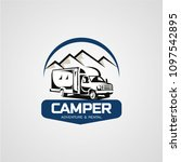 adventure rv camper car logo... | Shutterstock .eps vector #1097542895