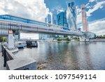 bridge bagration on moscow... | Shutterstock . vector #1097549114