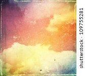 grunge cloud background ... | Shutterstock . vector #109755281