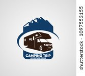 adventure rv camper car logo... | Shutterstock .eps vector #1097553155