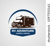 adventure rv camper car logo... | Shutterstock .eps vector #1097553161