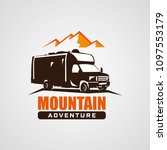 adventure rv camper car logo... | Shutterstock .eps vector #1097553179
