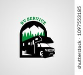 adventure rv camper car logo... | Shutterstock .eps vector #1097553185