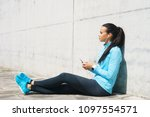 young  fit and sporty girl in...   Shutterstock . vector #1097554571