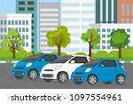 town parking place banner... | Shutterstock .eps vector #1097554961