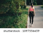 healthy lifestyle young woman...   Shutterstock . vector #1097556659