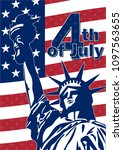 independence day. poster. the... | Shutterstock .eps vector #1097563655