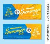 vector summer sale banner  sale ... | Shutterstock .eps vector #1097563661
