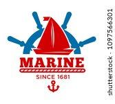 marine club since 1681 promo... | Shutterstock .eps vector #1097566301