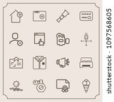modern  simple vector icon set... | Shutterstock .eps vector #1097568605
