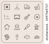 modern  simple vector icon set...   Shutterstock .eps vector #1097569727