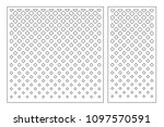 set decorative card for cutting ... | Shutterstock .eps vector #1097570591