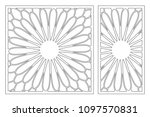 set decorative card for cutting ... | Shutterstock .eps vector #1097570831