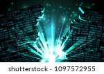 abstract futuristic cyberspace... | Shutterstock .eps vector #1097572955