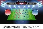 football or soccer starting... | Shutterstock .eps vector #1097576774
