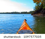 bow of yellow kayak. kayaking... | Shutterstock . vector #1097577035