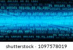 binary circuit board future... | Shutterstock .eps vector #1097578019
