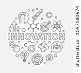 innovation vector round concept ... | Shutterstock .eps vector #1097580674