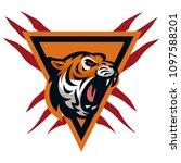 tiger vector icon logo mascot... | Shutterstock .eps vector #1097588201