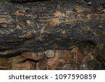 sedimentary rock pattern...   Shutterstock . vector #1097590859