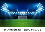football arena field with... | Shutterstock .eps vector #1097591771