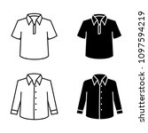 man dress  clothes linear icons ... | Shutterstock .eps vector #1097594219