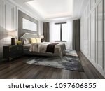 3d rendering luxury bed in... | Shutterstock . vector #1097606855